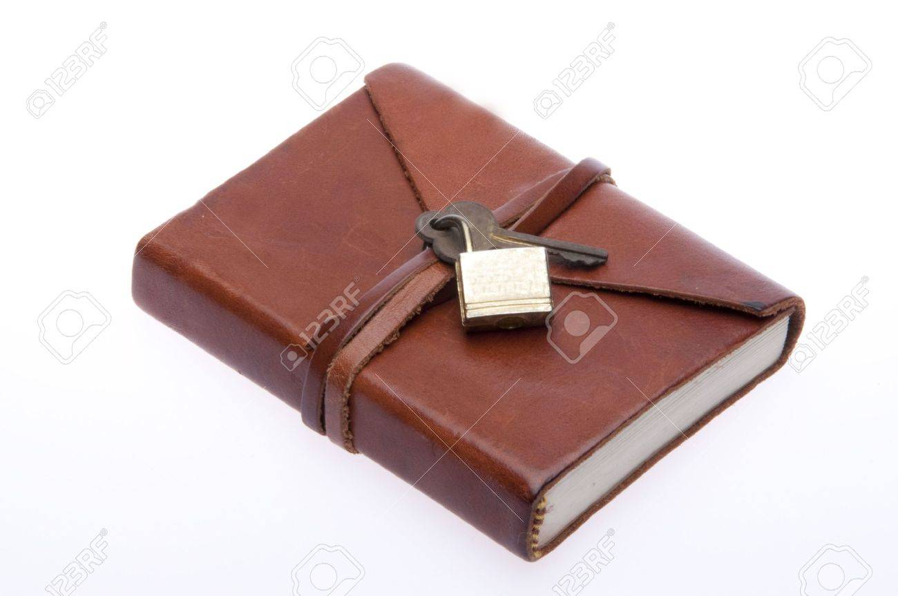 Old Leather Journal With Key Old leather journal with lock