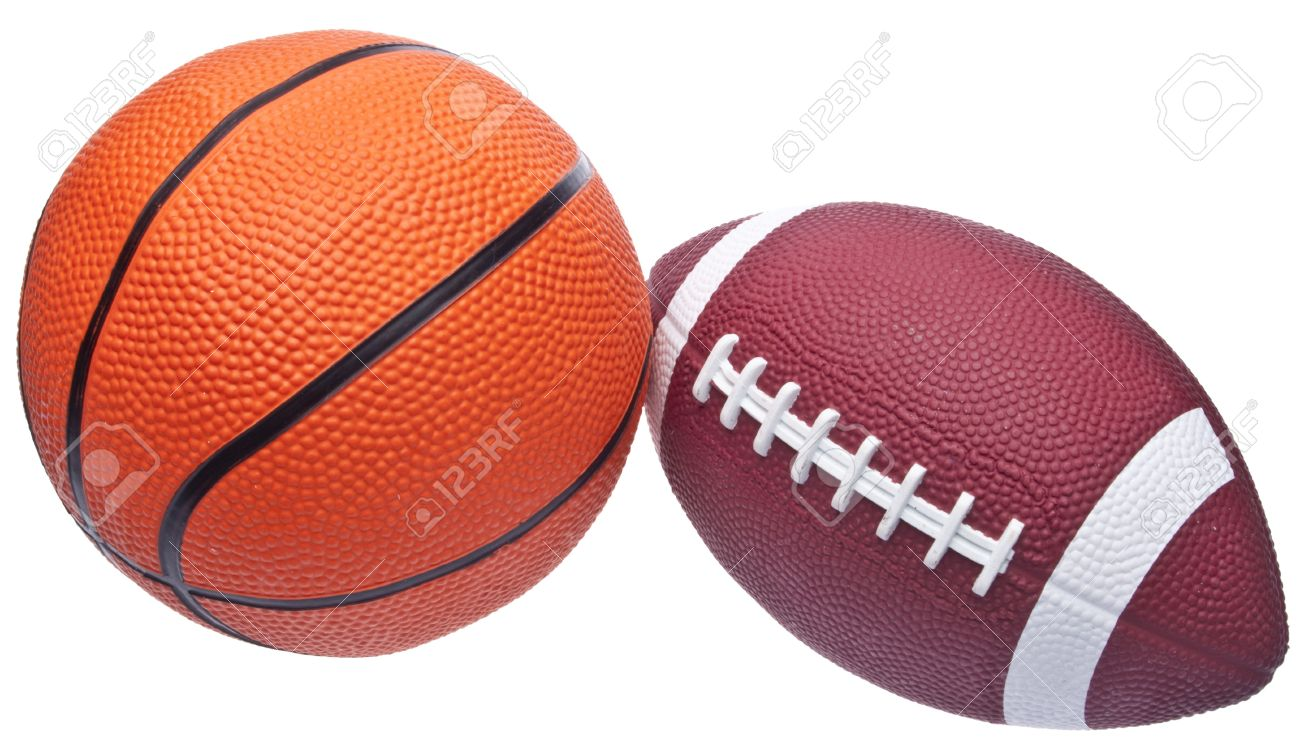Youth Sized Football And Basketball Stock Photo, Picture And Royalty Free  Image. Image 7133361.