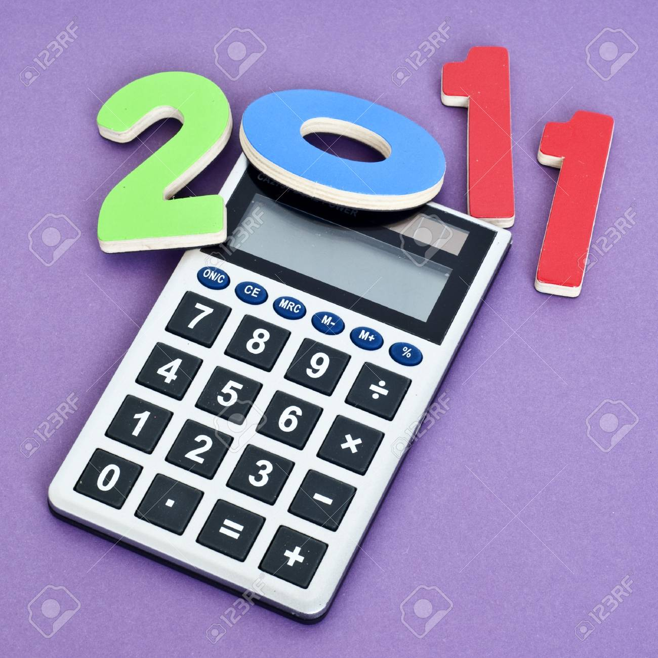 Calculating 2011 Money Concept Image for the New Year. Stock Photo - 8135247