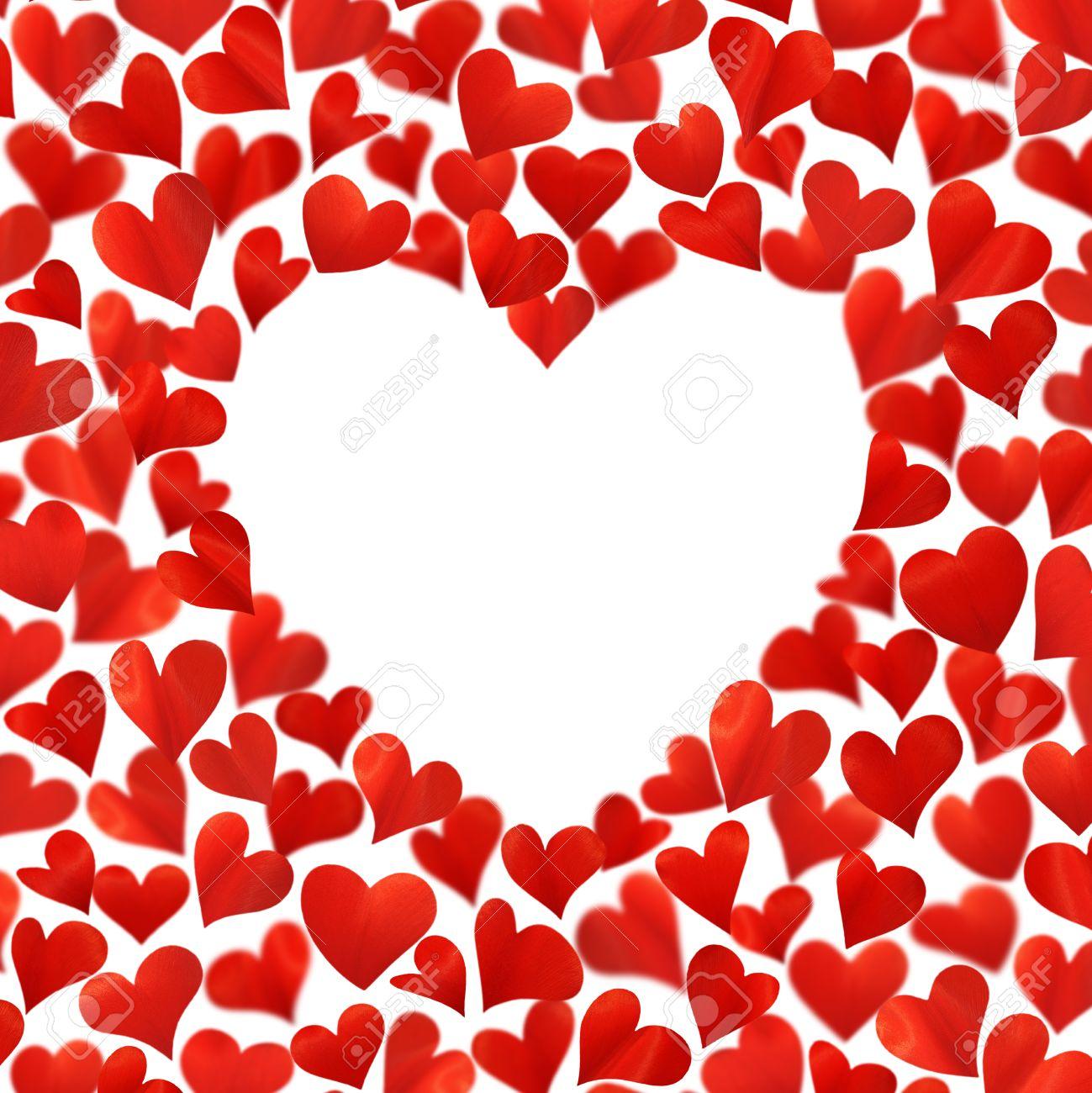 Image Avec Des Coeur arrière-plan avec des coeurs rouges en 3d, un espace vide pour le