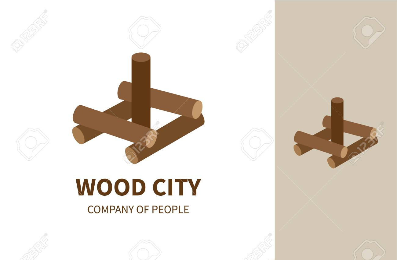 Wood City Is A Vector Logo Idea For Toy Production Company Family