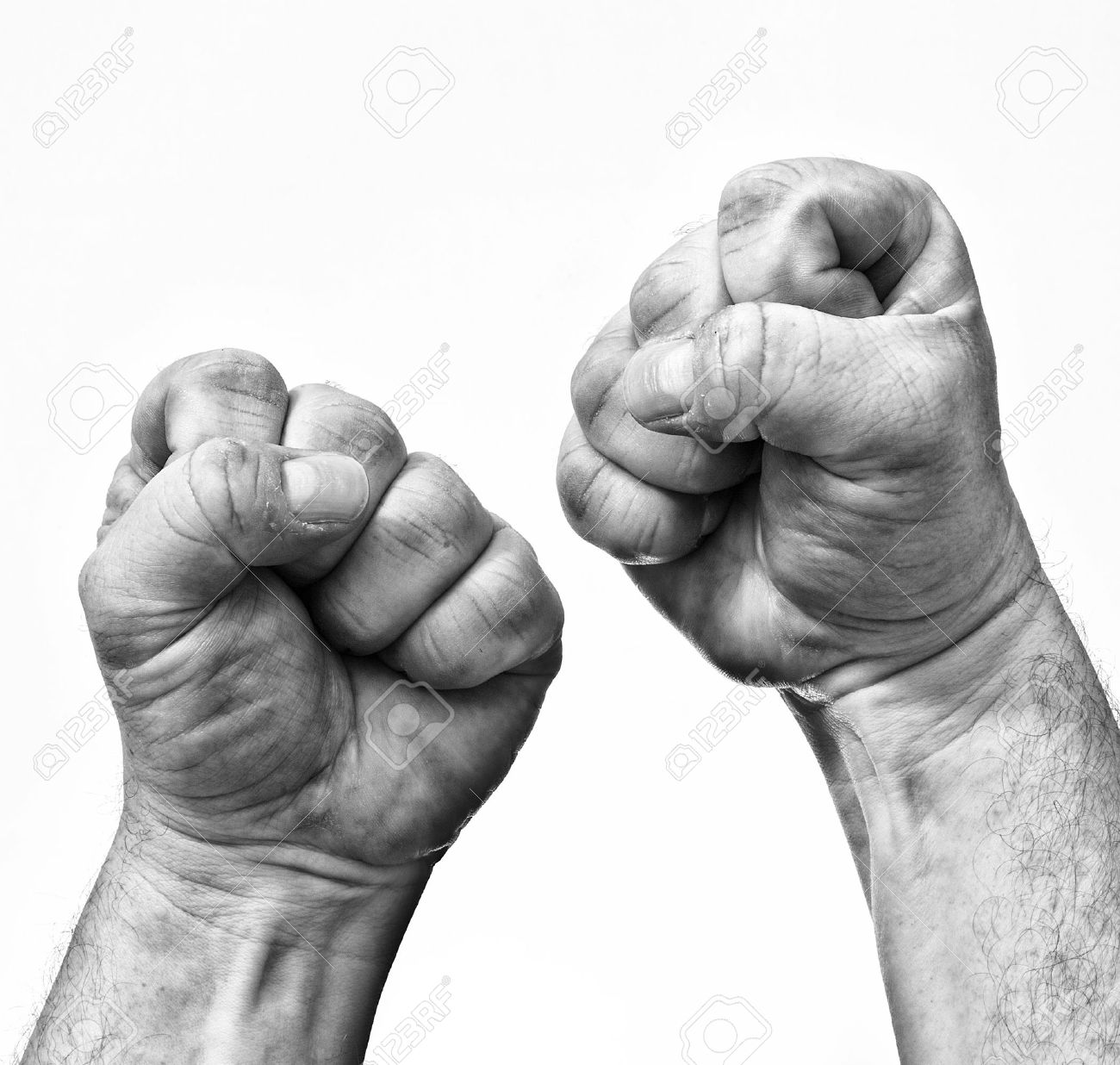 Two clenched fists showing stress and rage. Stock Photo - 12420770