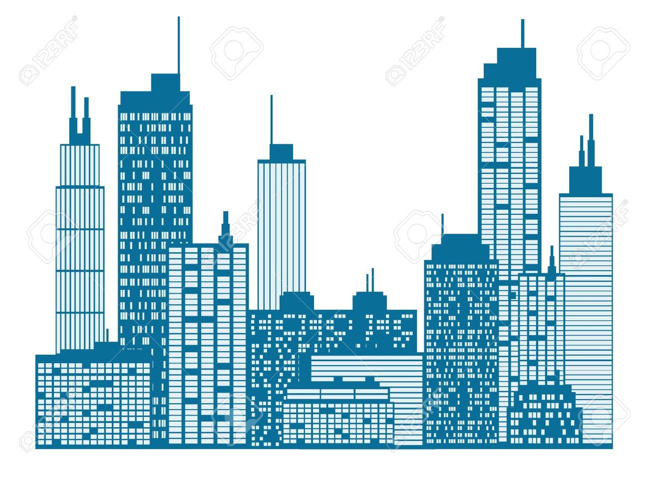 Cartoon City Skyline City Skyline York