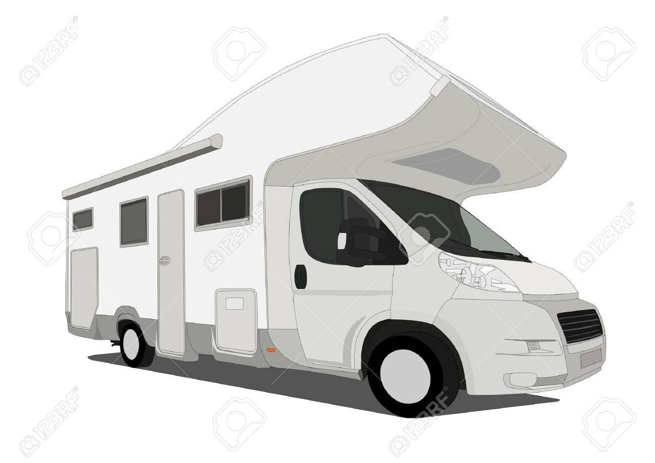 Caravan Car Stock Vector