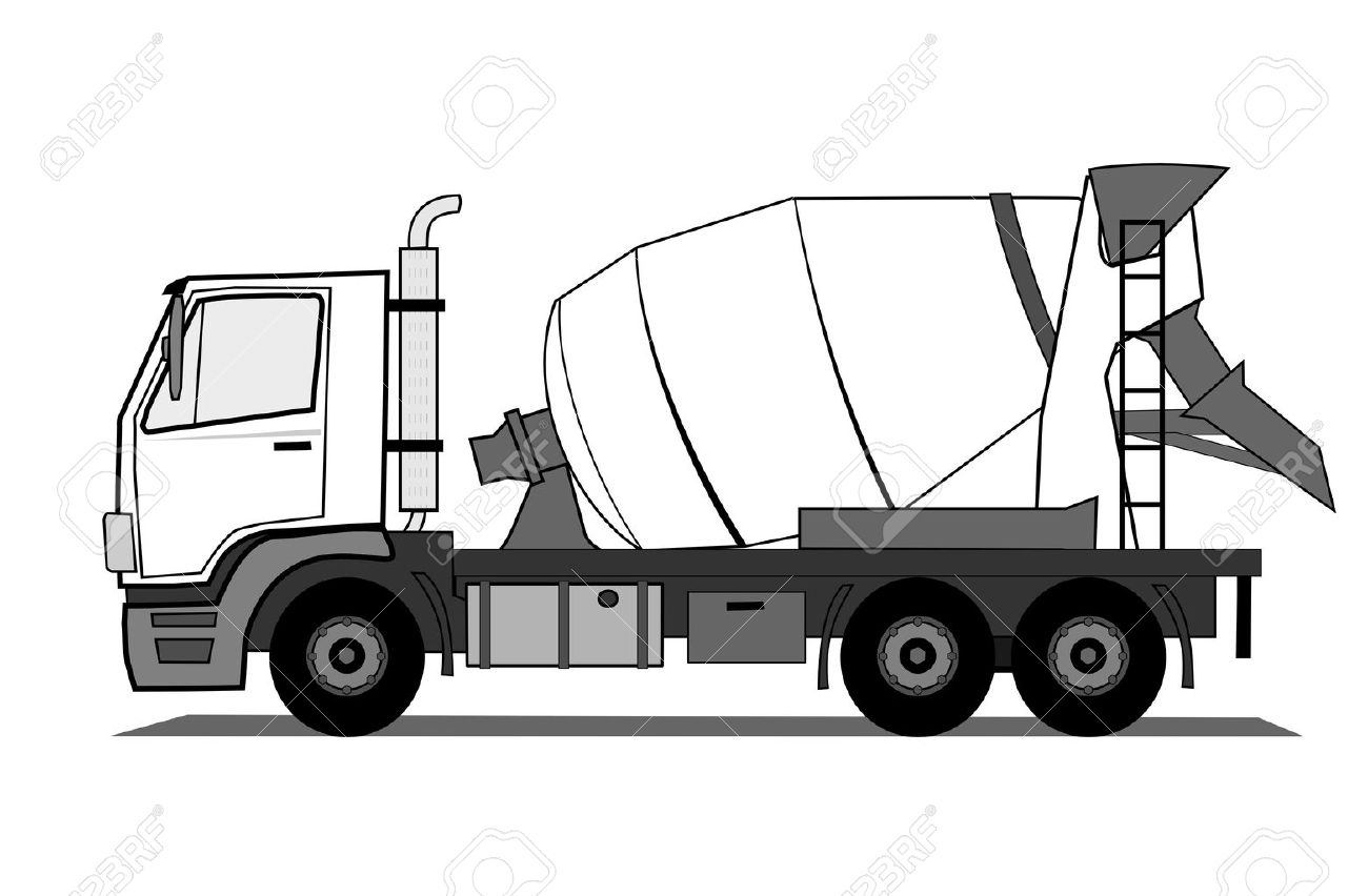 cement mixer truck royalty free cliparts vectors and stock