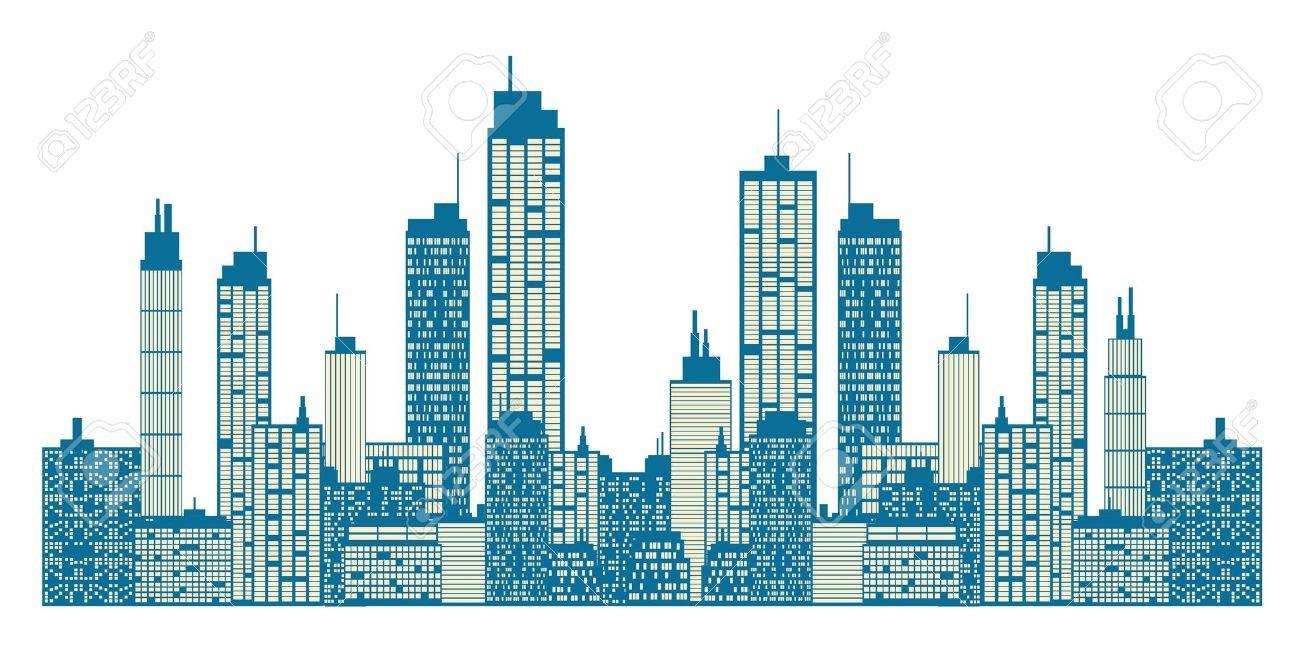 City skyline Stock Vector - 15447544