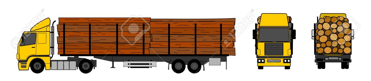 Wood transportation by truck Stock Vector - 15708746