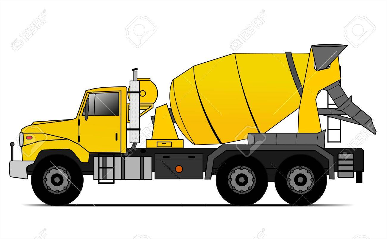 american style cement truck royalty free cliparts vectors and