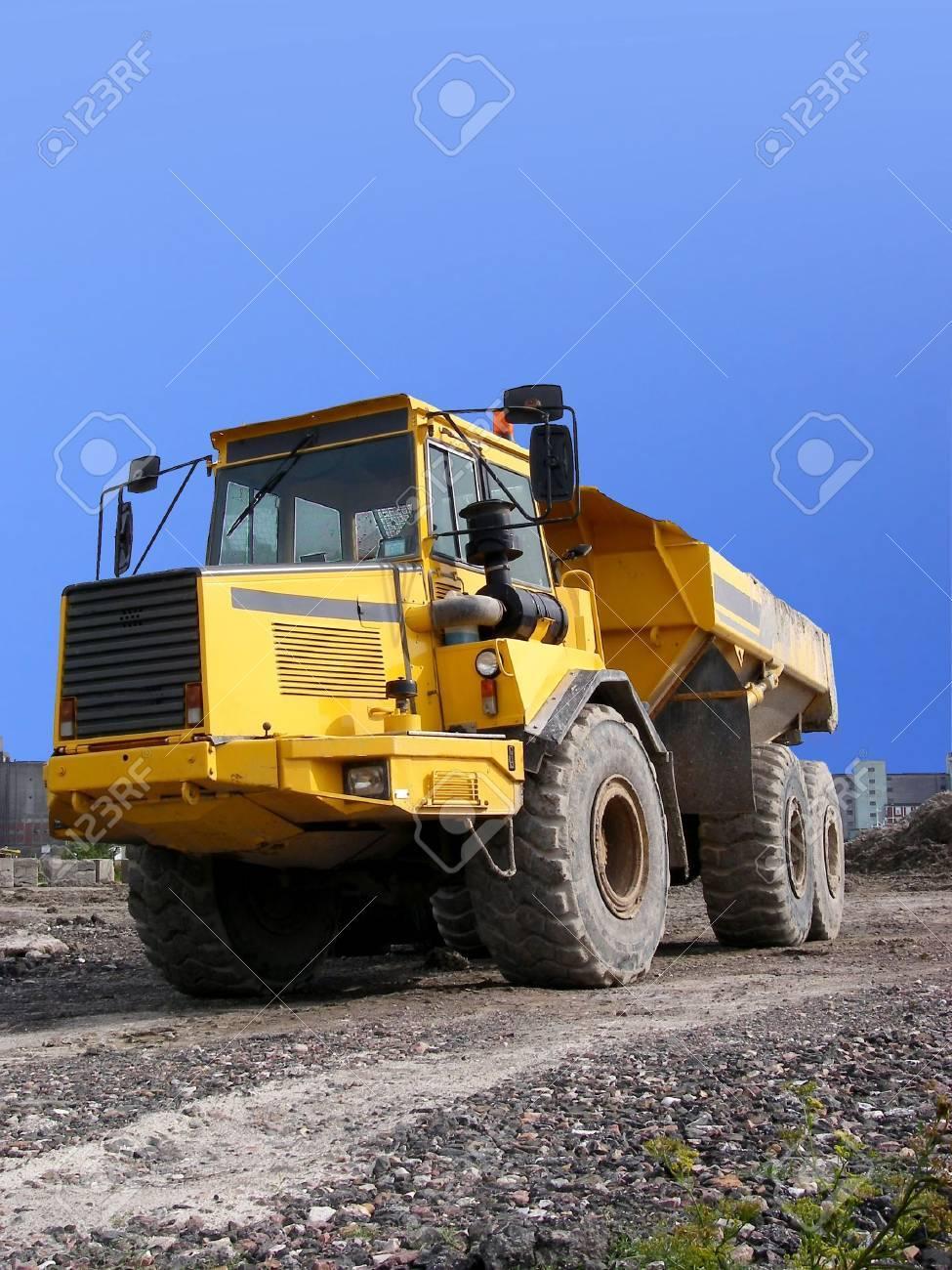 portrait of dump truck on path Stock Photo - 722998