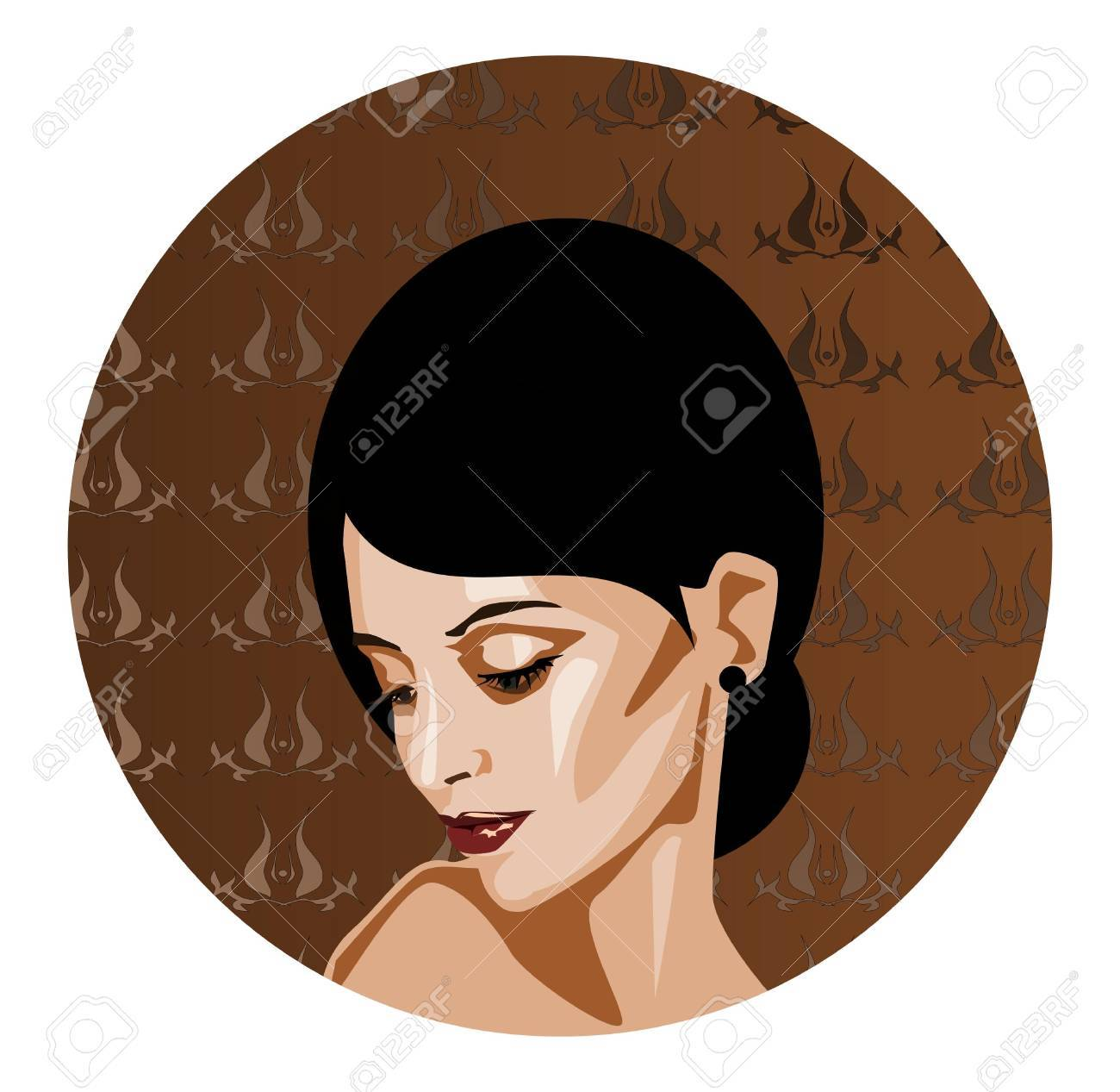 Feminine and delicate.   illustration of a portrait of a beautiful, gentle woman. Stock Vector - 9480094