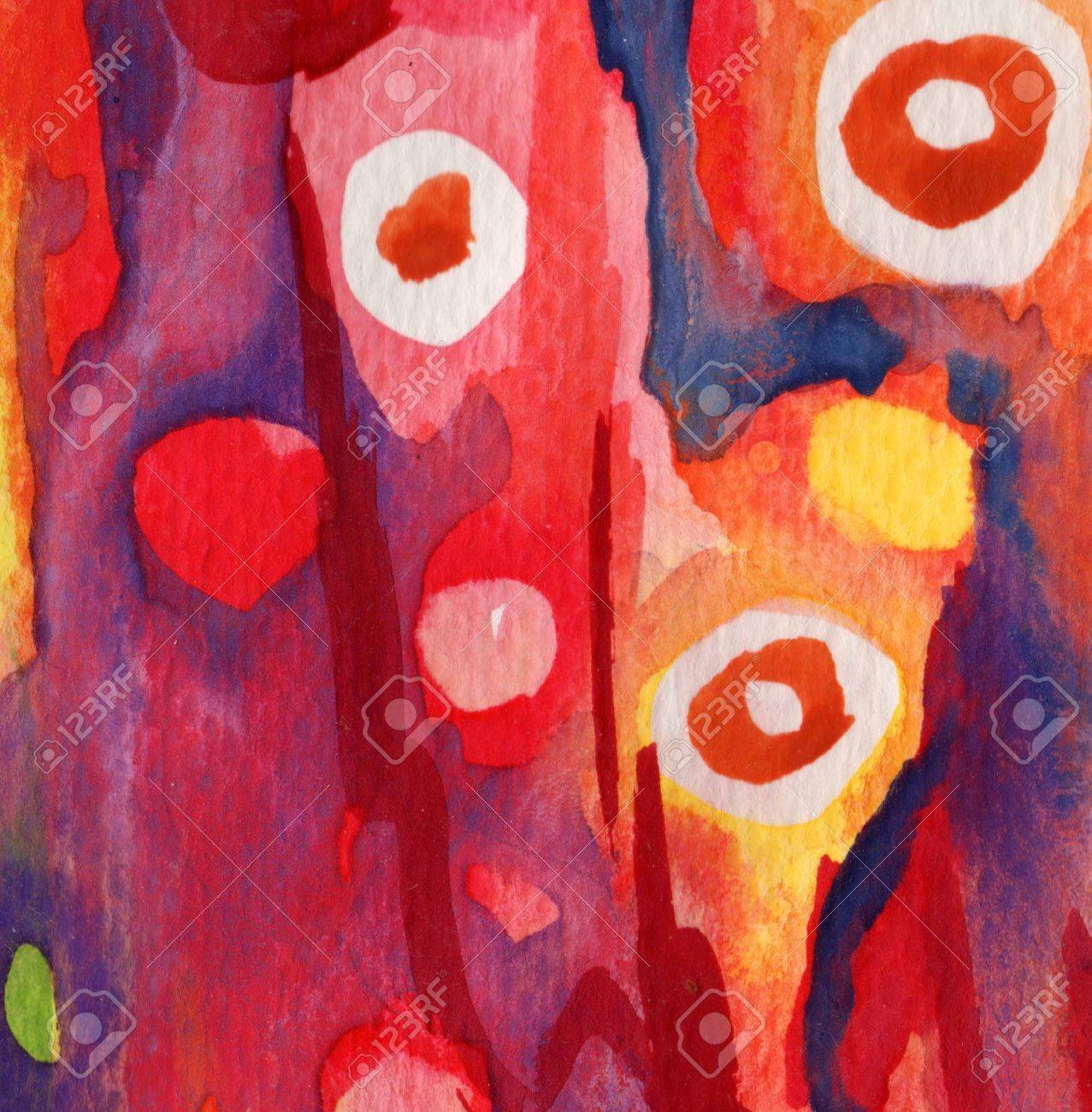 Abstract red, dark blue, yellow watercolor and old background Stock Photo - 15713675