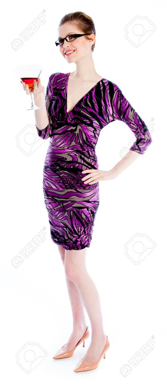 Mujer Caucásica Atractiva Que Llevaba Un Vestido De Noche En Su 30 ...