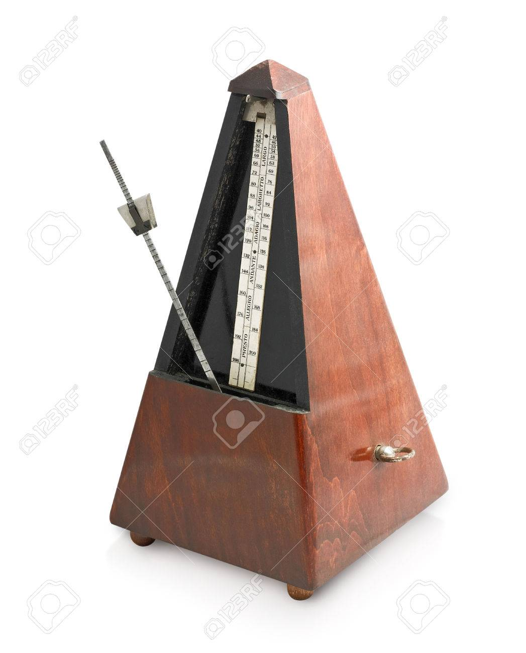 metronome isolated on a white background Stock Photo - 22594523