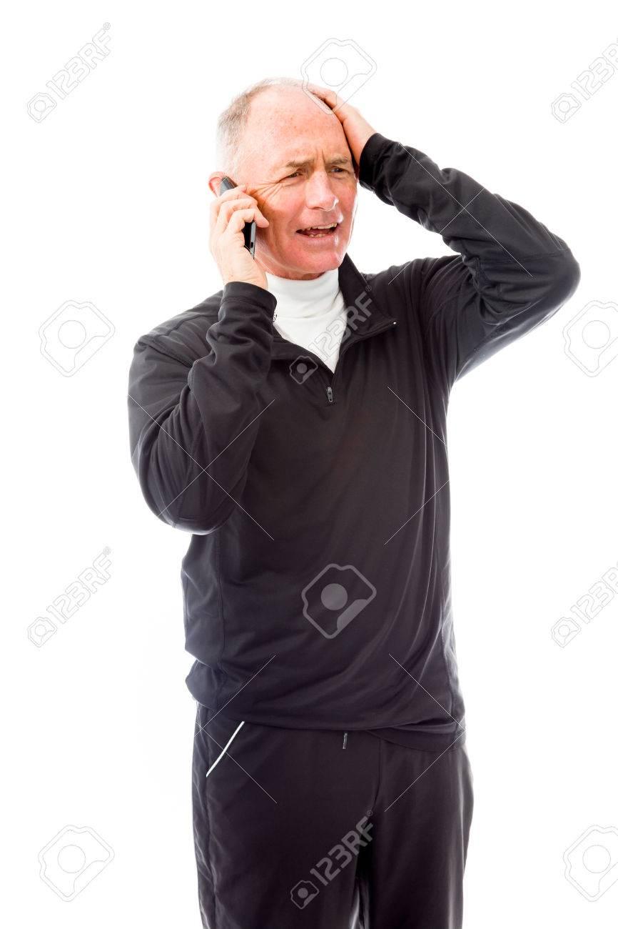 Senior man talking on a mobile phone - 29483023