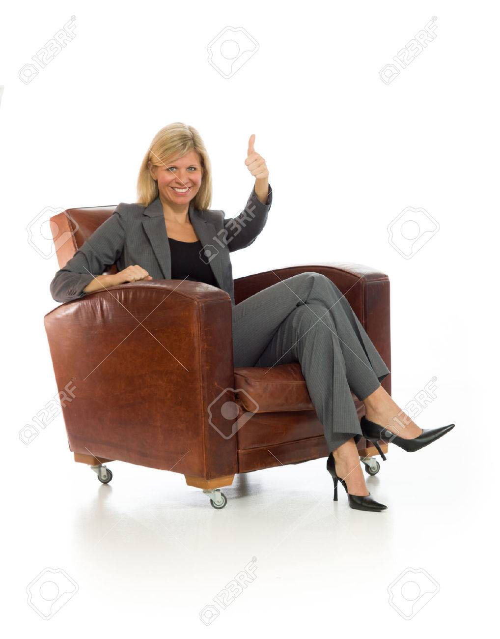 Model isolated thumbs up success - 40593863
