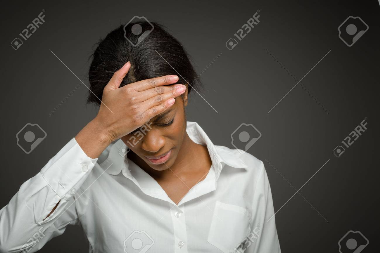 Model isolated with headache - 40723962