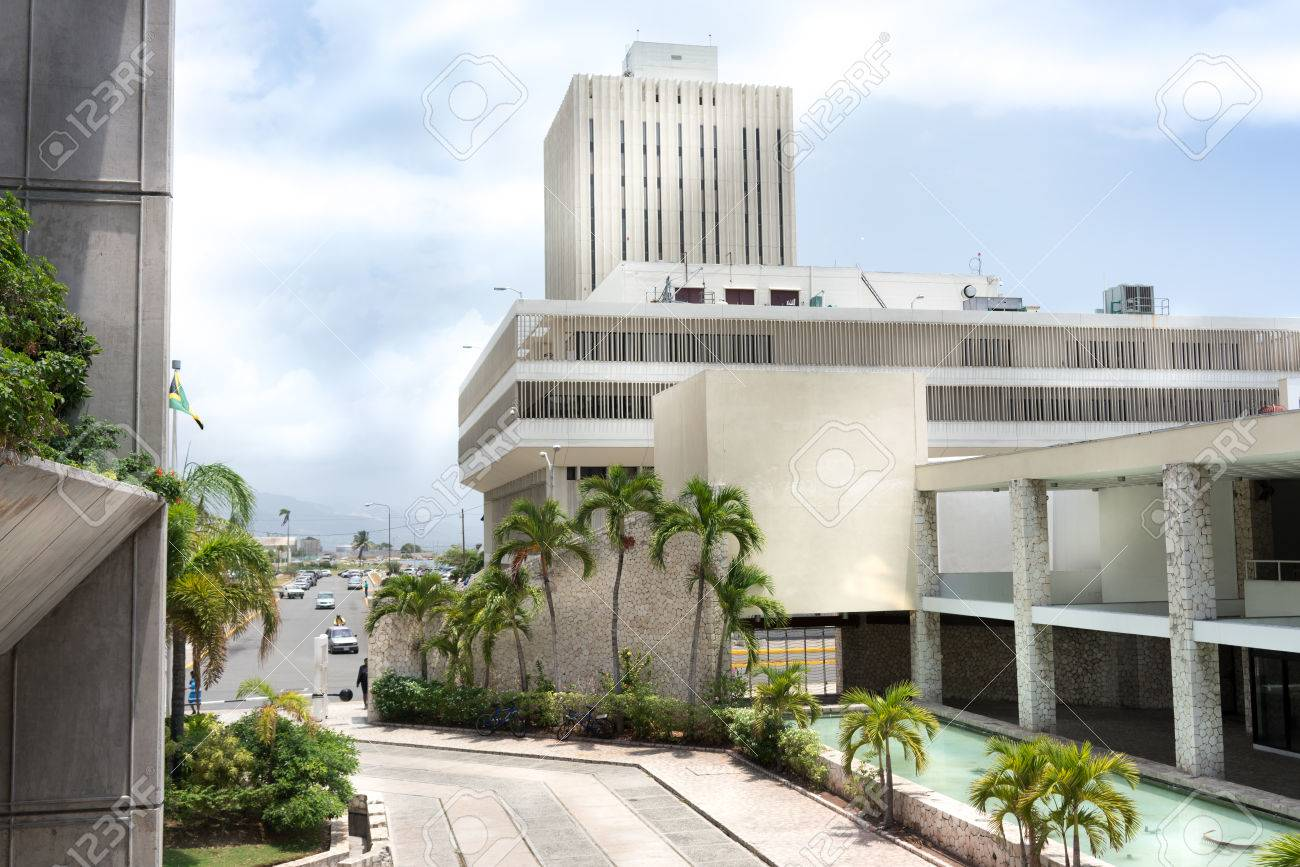 Kingston central bank at roadside, Jamaica - 51439999