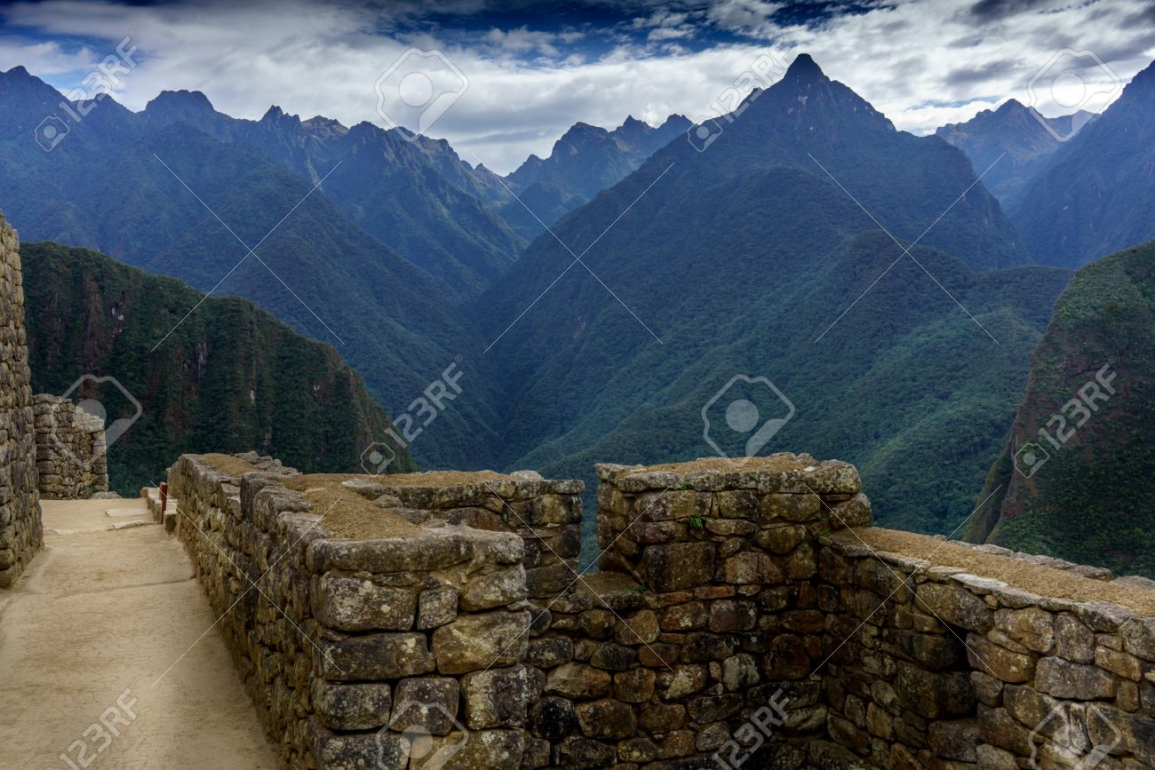 Mountain living near cusco peru royalty free stock photo - View Of Mountains Machu Picchu Cusco Region Urubamba Province Machupicchu District