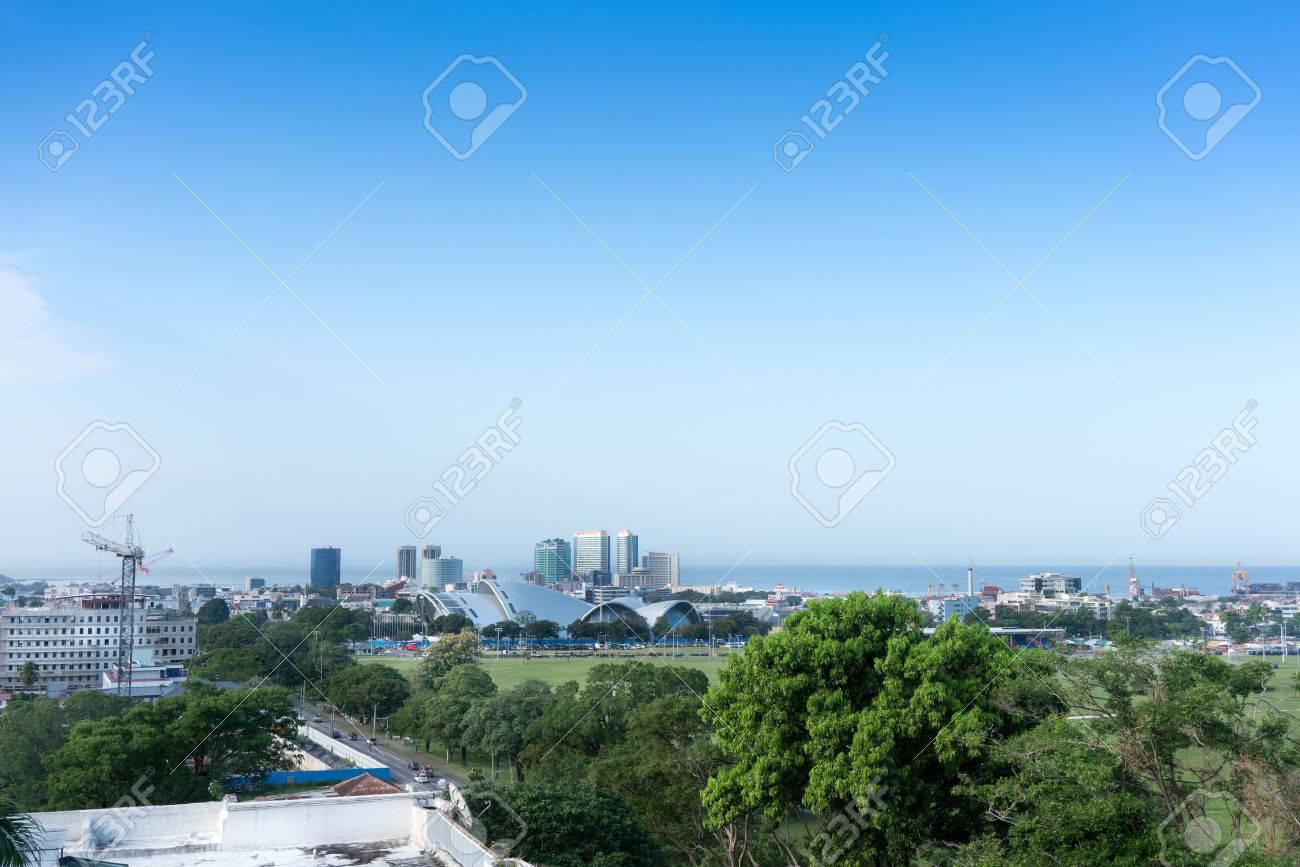 Skyline in city at seaside, Trinidad, Trinidad And Tobago - 51447650