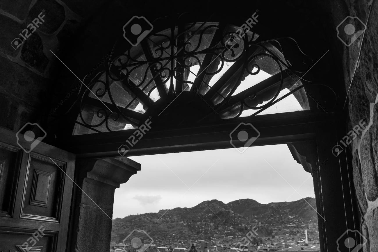 Arch Architecture Black And White Built Structure Cathedral Catholicism Christianity Church City Cityscape Cusco Day Design Famous Place