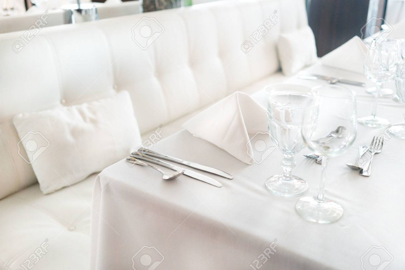 Colour Image Photography Indoors No People Horizontal Restaurant Table Arrangement Elegance Luxury Place Setting Food And Drink Absence Empty ... & Colour Image Photography Indoors No People Horizontal ...