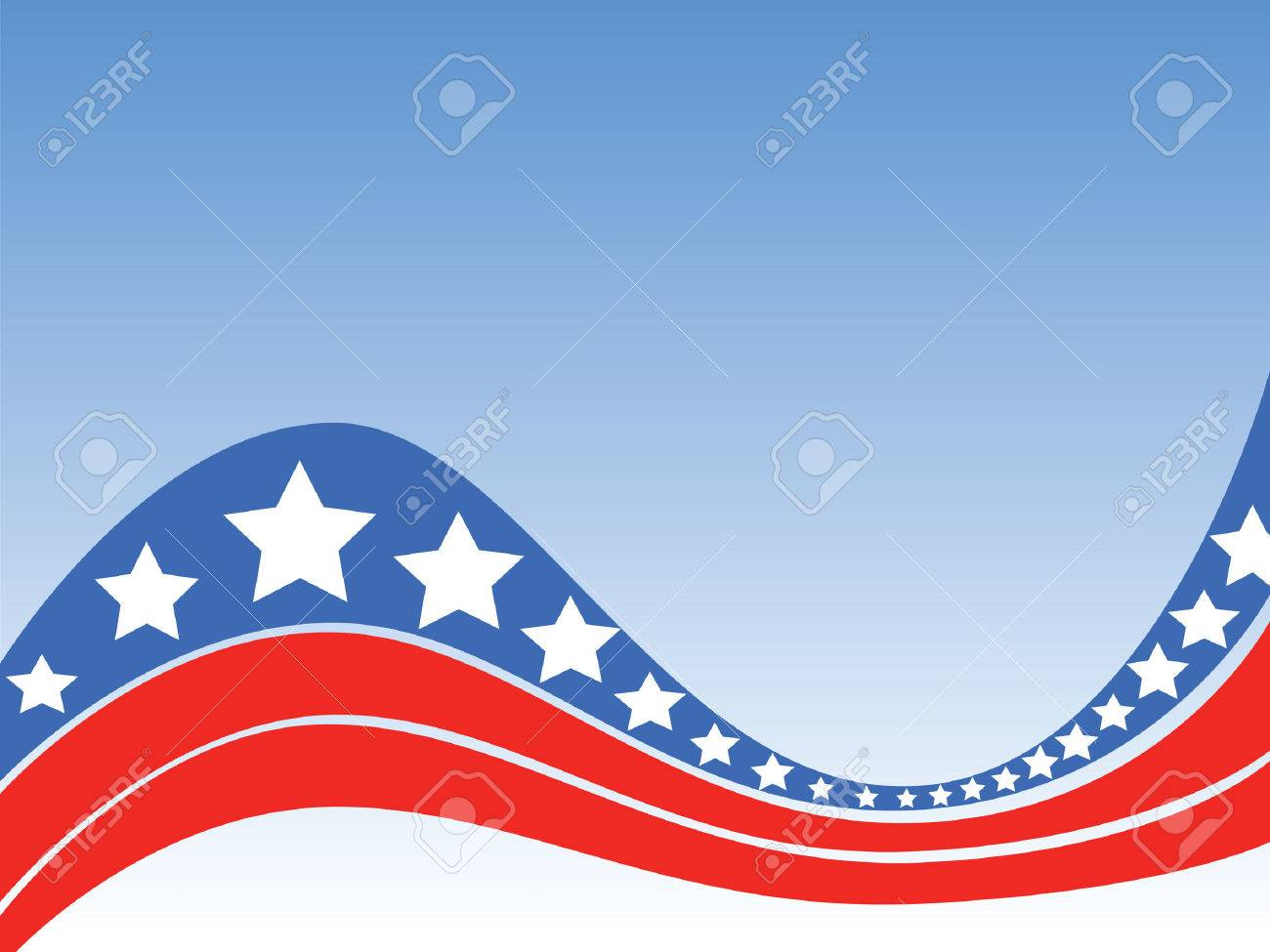 Special background celebrating the independence of the United States of America, with stylized stars and stripes. Stock Vector - 3168592