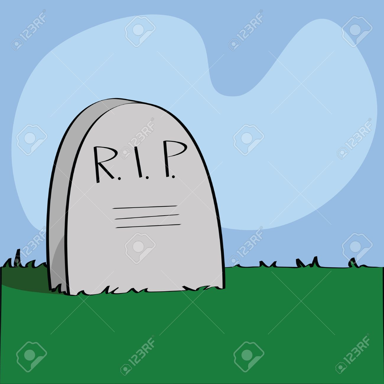 illustration of a cartoon tombstone with r i p written on it rh 123rf com cartoon tombstone generator cartoon tombstone png
