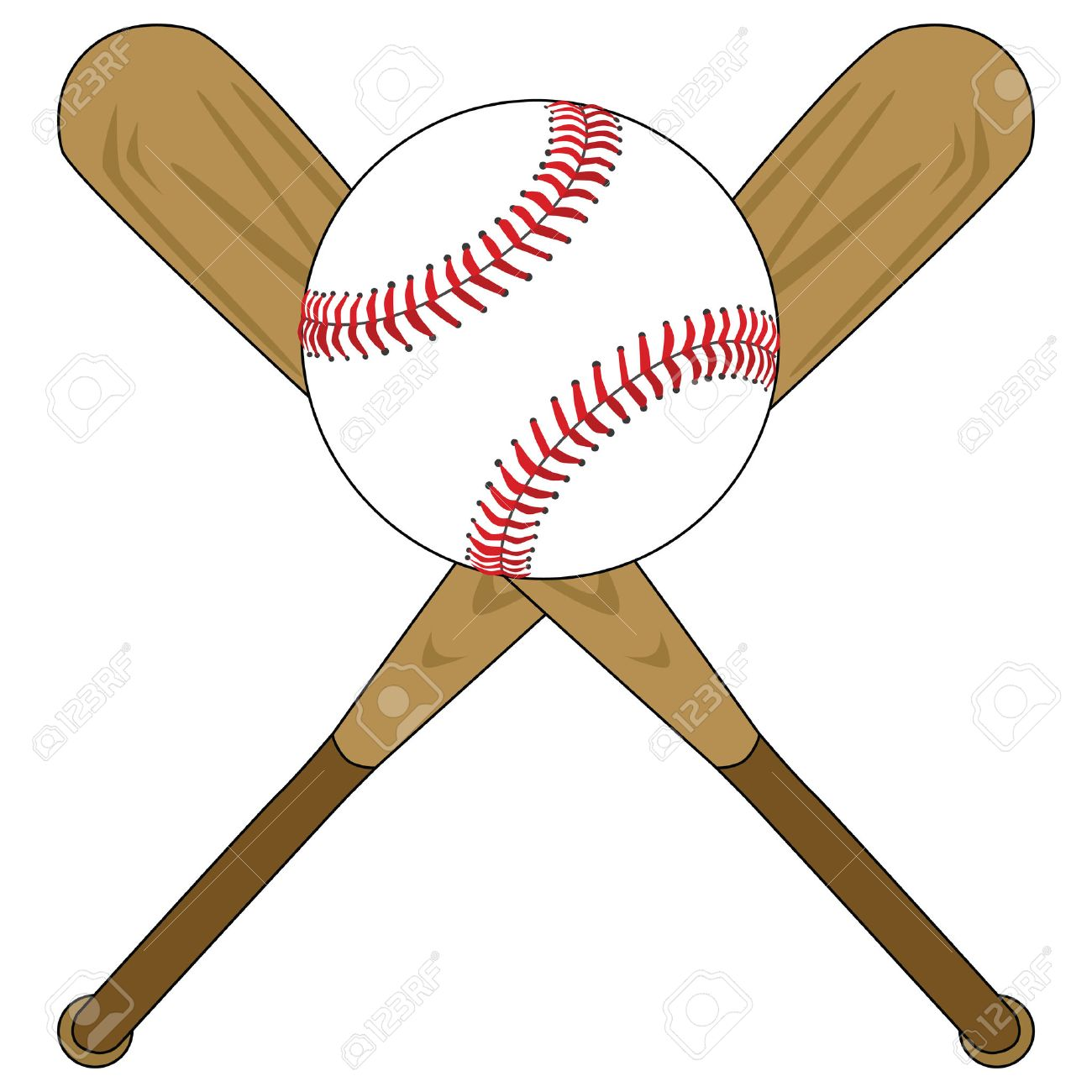 illustration of two wooden baseball bats and a baseball royalty free rh 123rf com Baseball Bat Vector Logo Baseball Bat Vector Logo