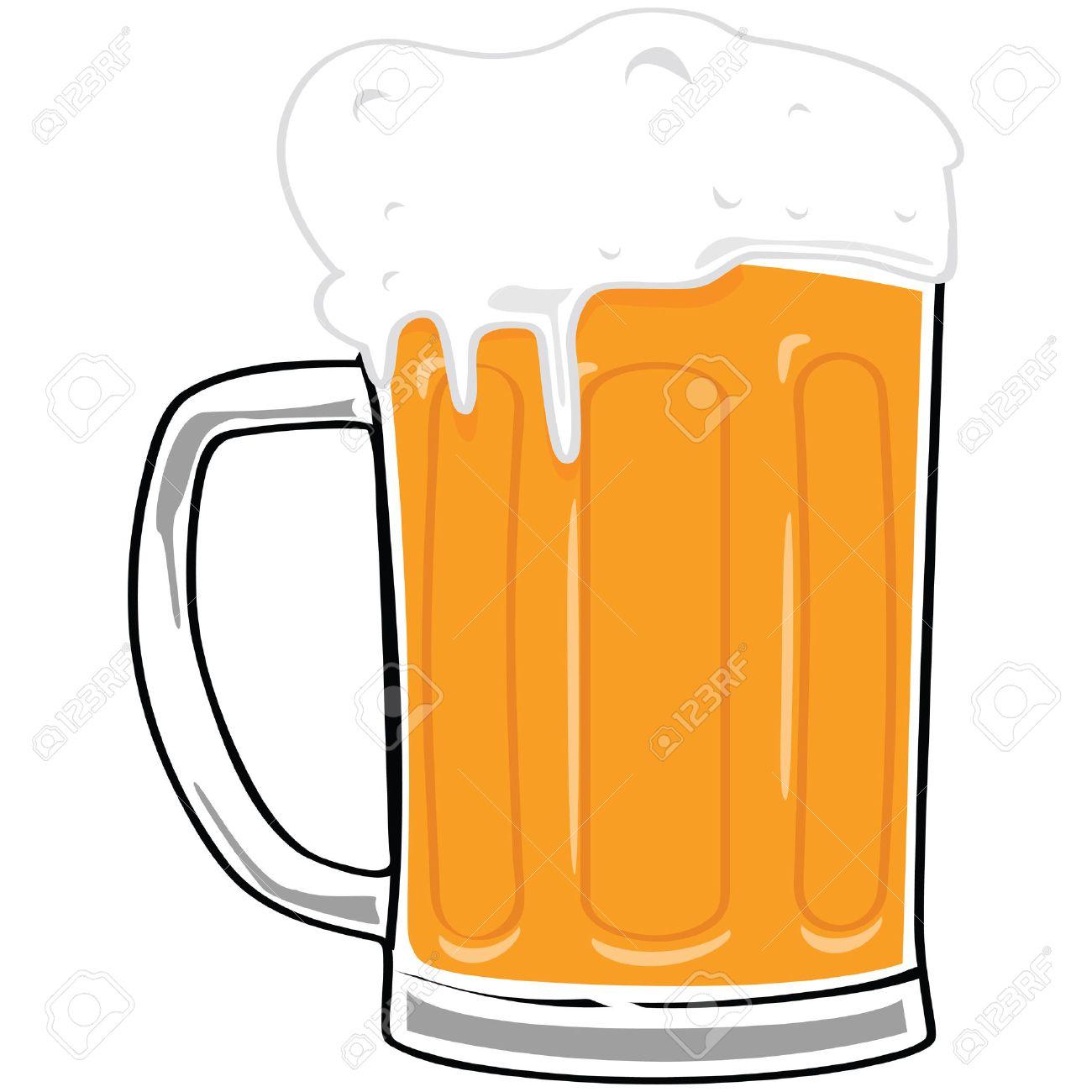 Cartoon illustration of a big beer mug Stock Vector - 7440810