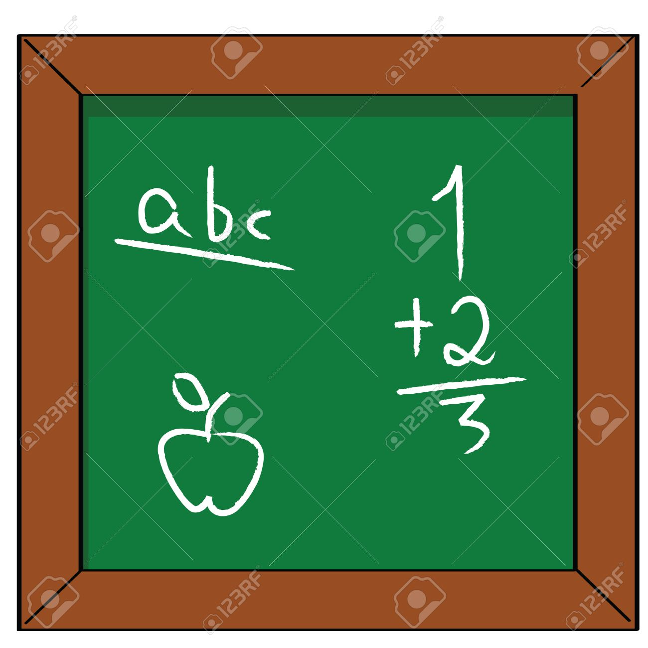 Worksheet Reading Math 7530404 cartoon illustration of a school blackboard with some basic reading math and drawing exercises stock vector jpg scalien