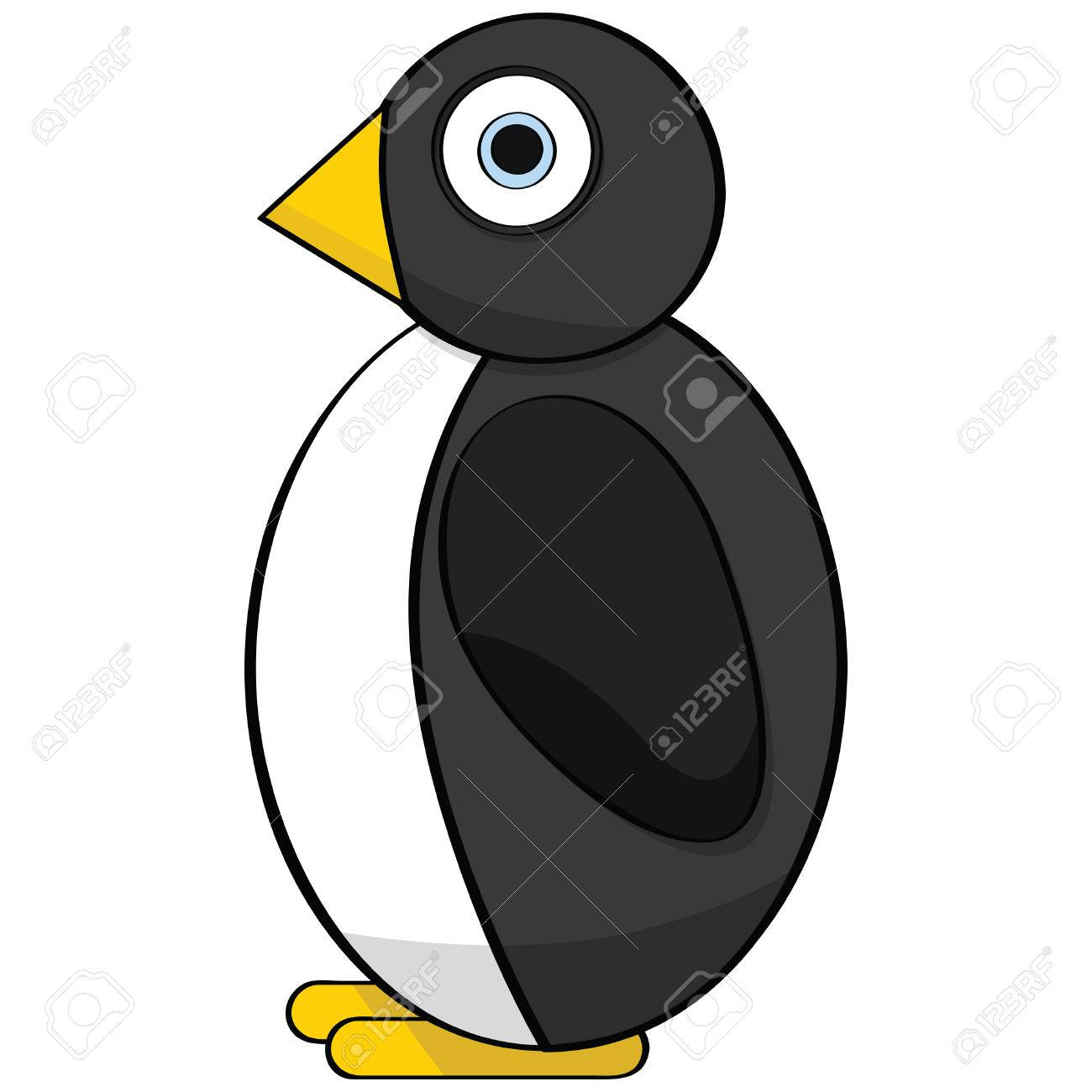 Cartoon illustration of a cute stylized penguin Stock Vector - 7697302