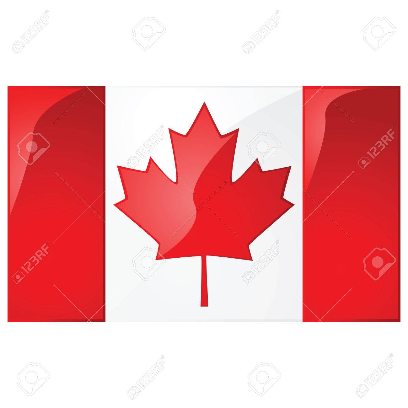 Glossy illustration of the flag of Canada Stock Vector - 7697366