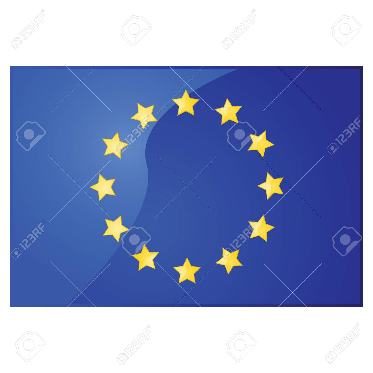 Glossy illustration of the flag of the European Union Stock Vector - 7697374