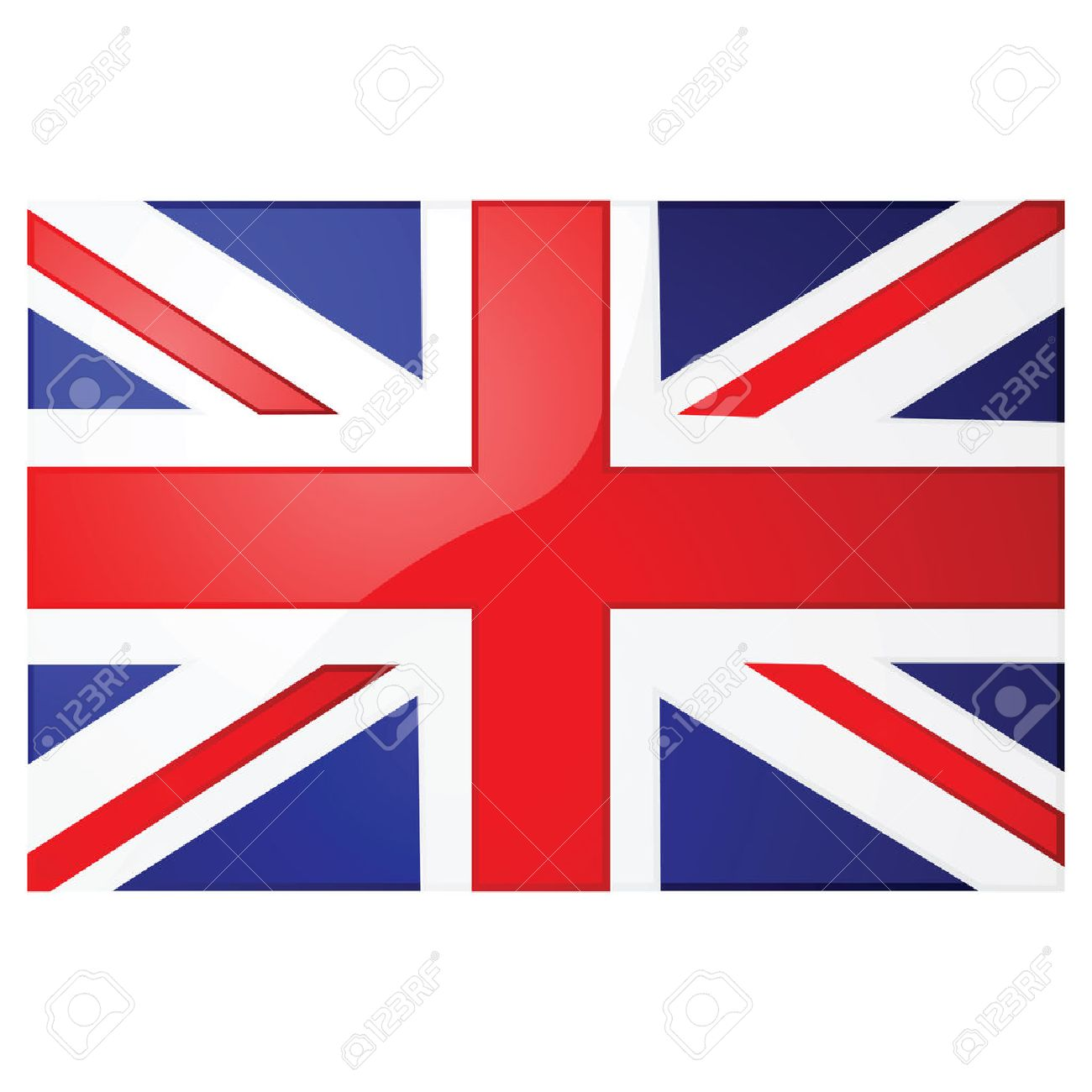 glossy illustration of the union jack the british flag royalty free rh 123rf com british flag vector art british flag vector ai
