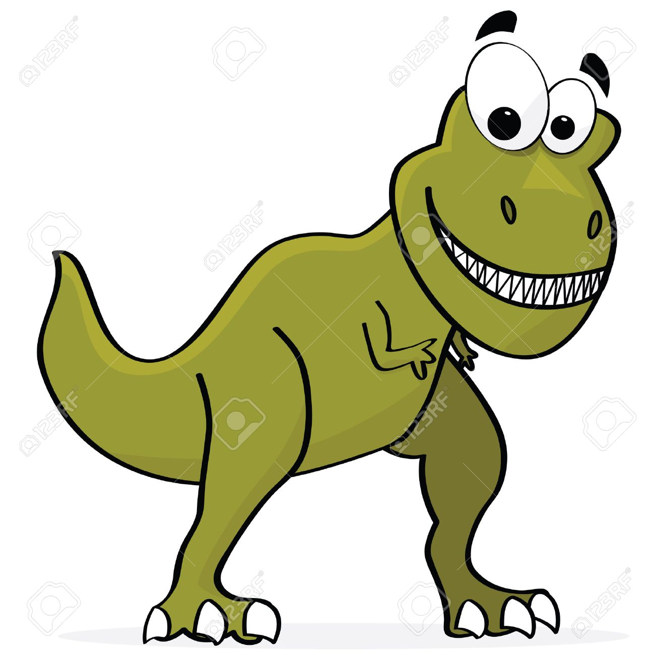 Cartoon illustration of a cute T-Rex dinosaur Stock Vector - 8020932