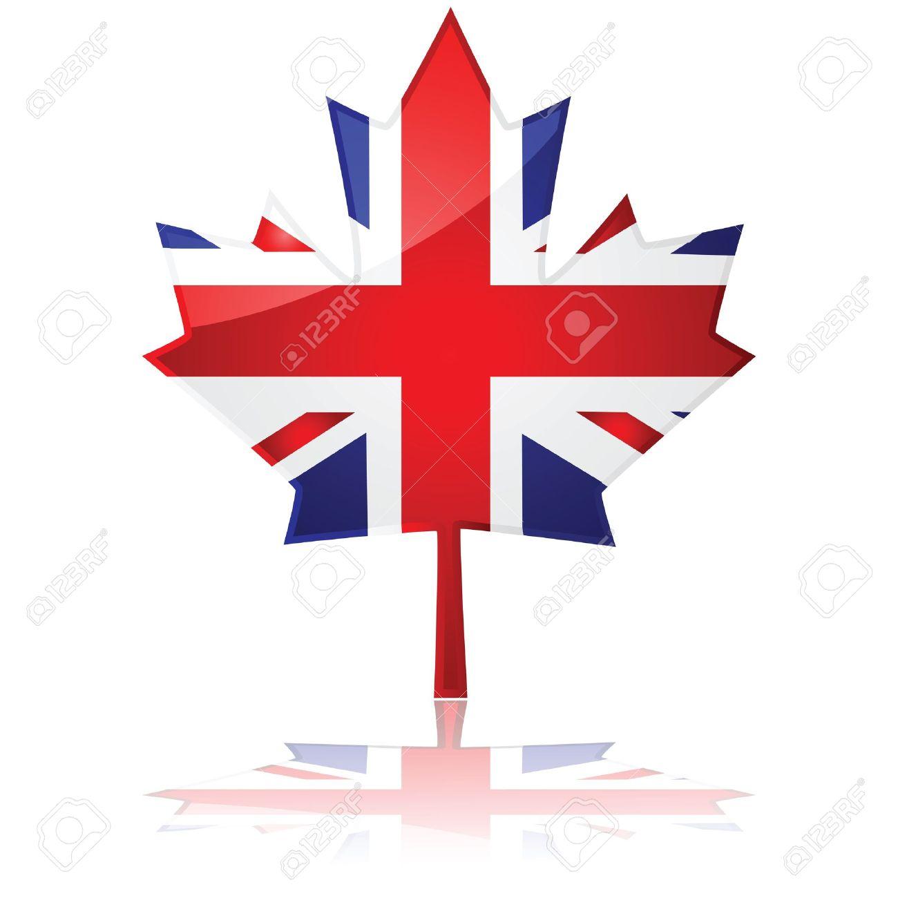 flag of britain shaped like canada u0027s maple leaf symbolizing