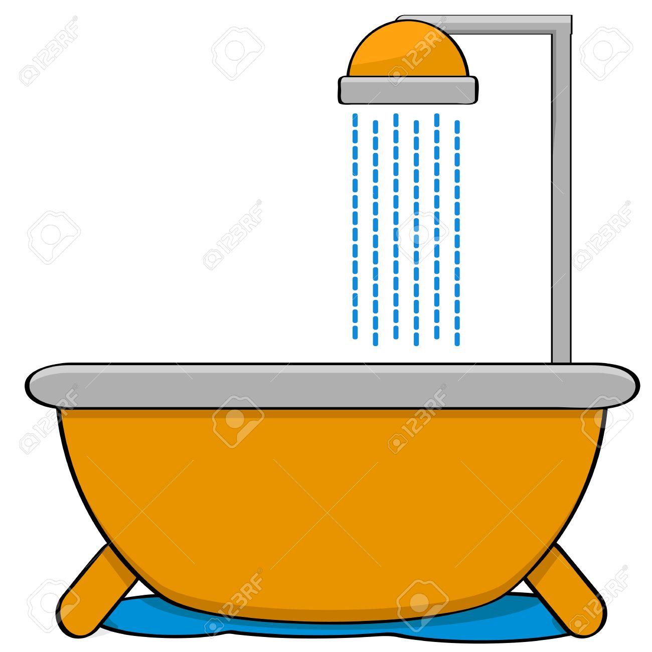 bathtub cartoon. Cartoon illustration showing a bathtub with shower head Stock Vector  16693560 Illustration Showing A Bathtub With Shower Head Royalty