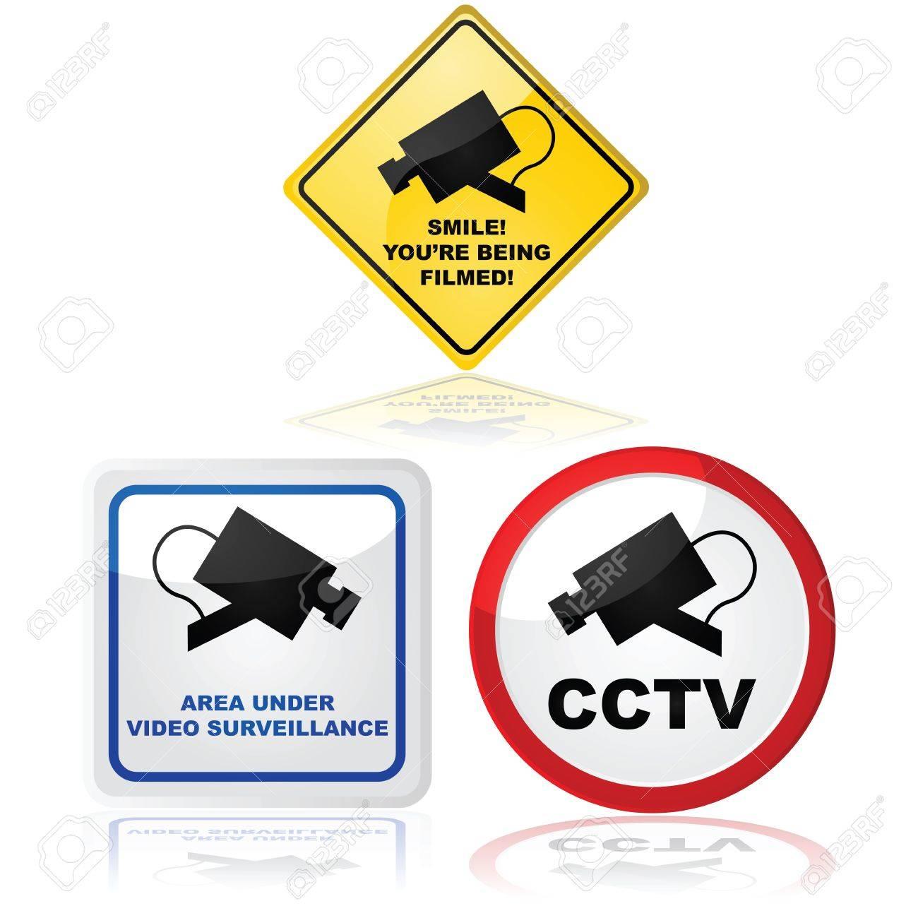 Des Panneaux Indiquant Qu Une Camera Video Est Utilisee Dans Le Lieu