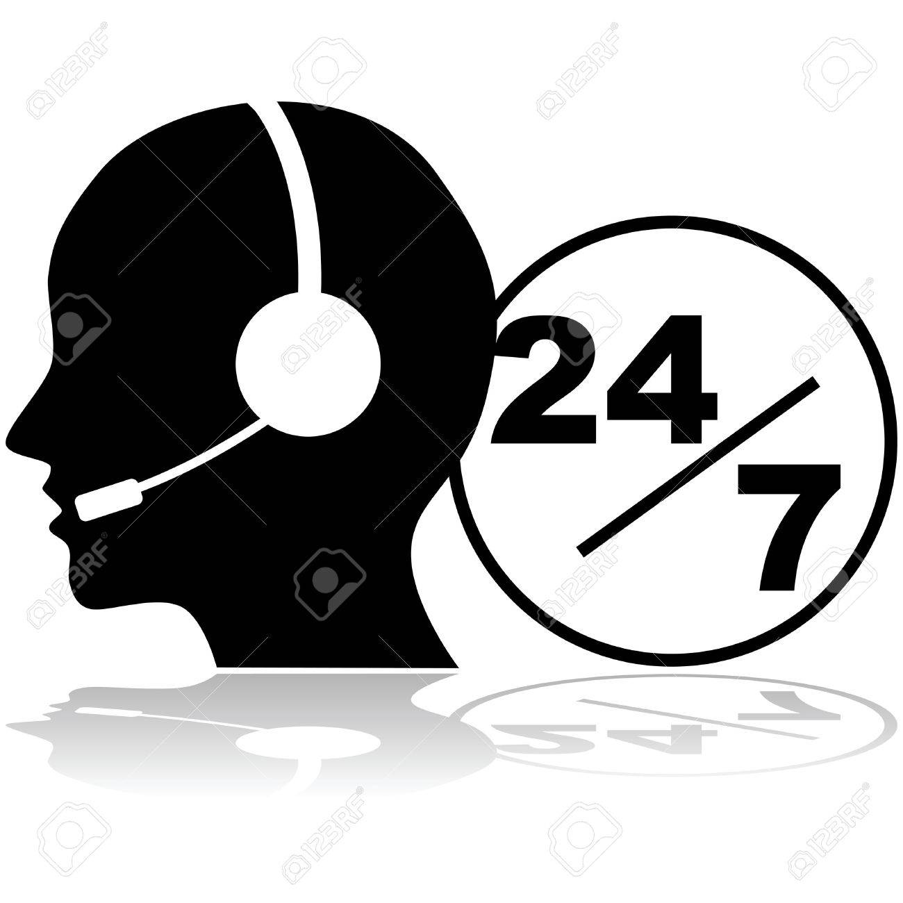 jobs available cliparts stock vector and royalty jobs jobs available icon showing a person a headset providing phone support 24 hours a