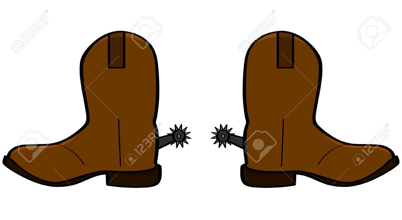 cartoon illustration of a pair of leather cowboy boots royalty free rh 123rf com cartoon cowboy boots and hat cartoon cowboy boots