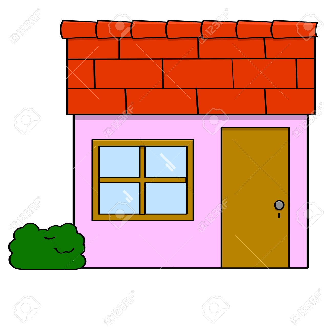small house cartoon. cartoon illustration of a small simple house with door and window stock  sc 1 st  Hedgy.space Is a Great Content!!! & Small House Cartoon. Small Fairy House Cartoon G - Hedgy.space pezcame.com