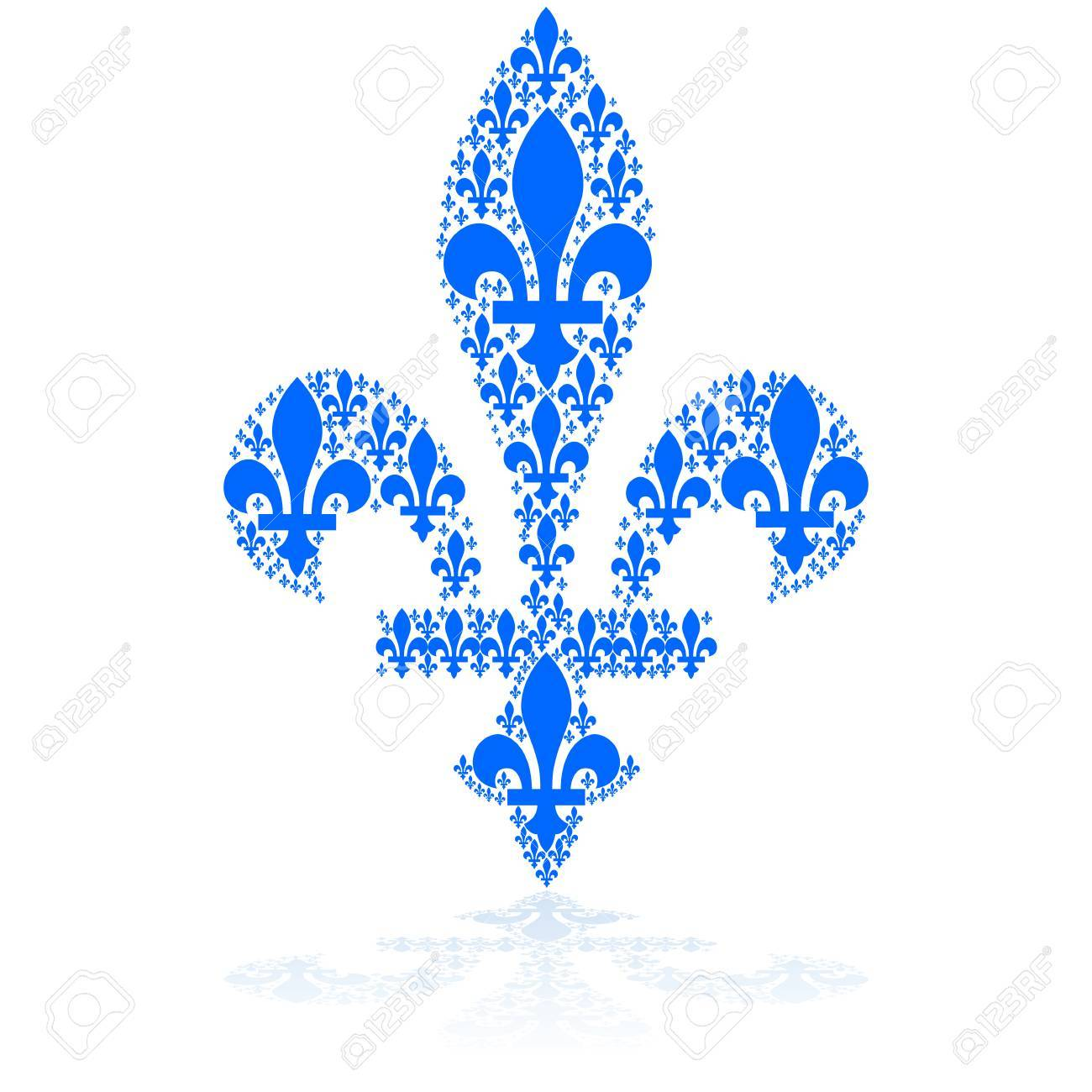 Geliebte Concept Illustration Showing A Blue Fleur-de-lys Icon Made Up @YA_13