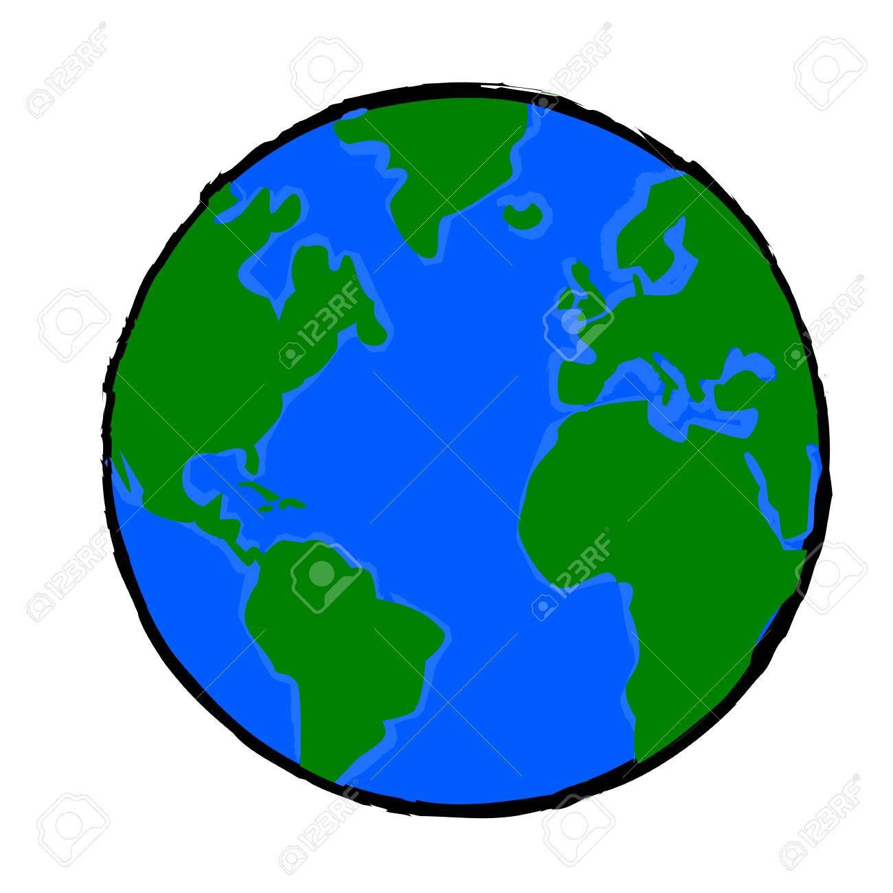 Dessin Planète Terre illustration de dessin animé montrant une planète terre peint clip