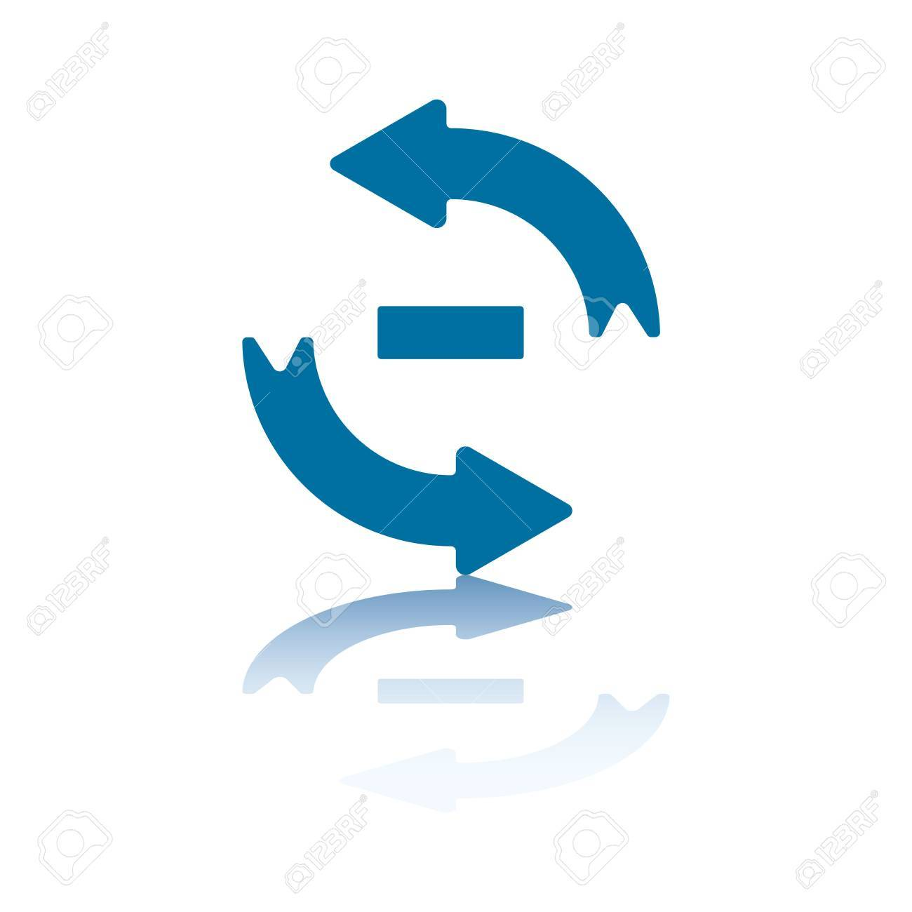 Reload/Refresh Arrows, Two Opposite Symmetrical Arrows with Minus Sign Between Them Stock Photo - 3415989