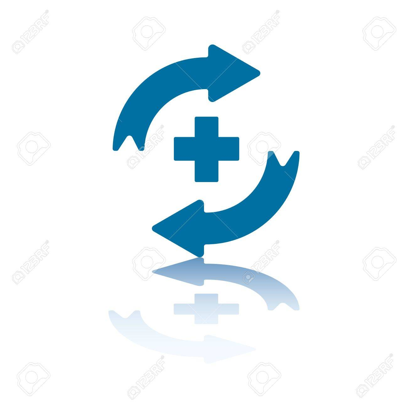 Reload/Refresh Arrows, Two Opposite Symmetrical Arrows with Plus Sign Between Them Stock Photo - 3415990