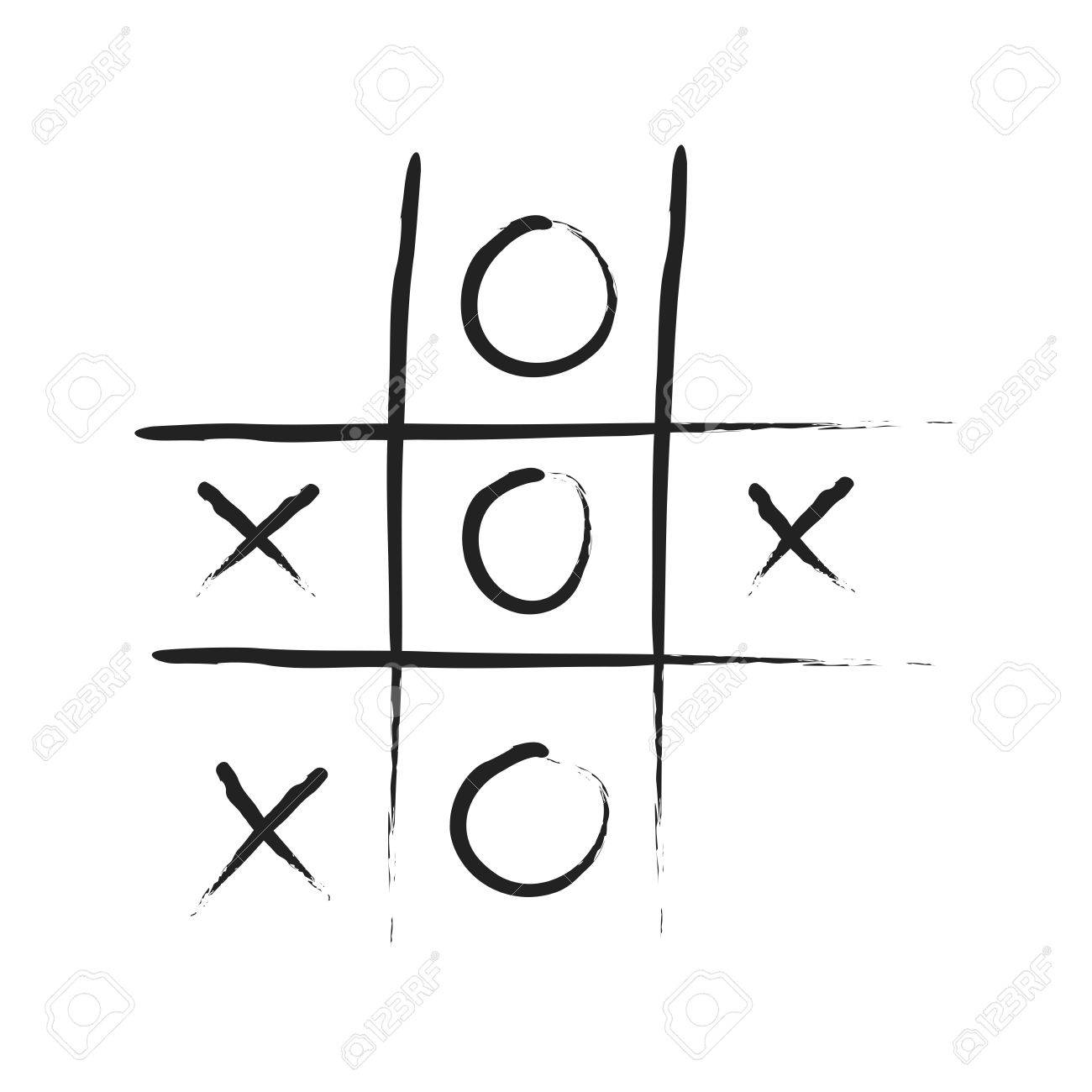 Hand Drawn Tic Tac Toe Game Stock Photo, Picture And Royalty Free ...