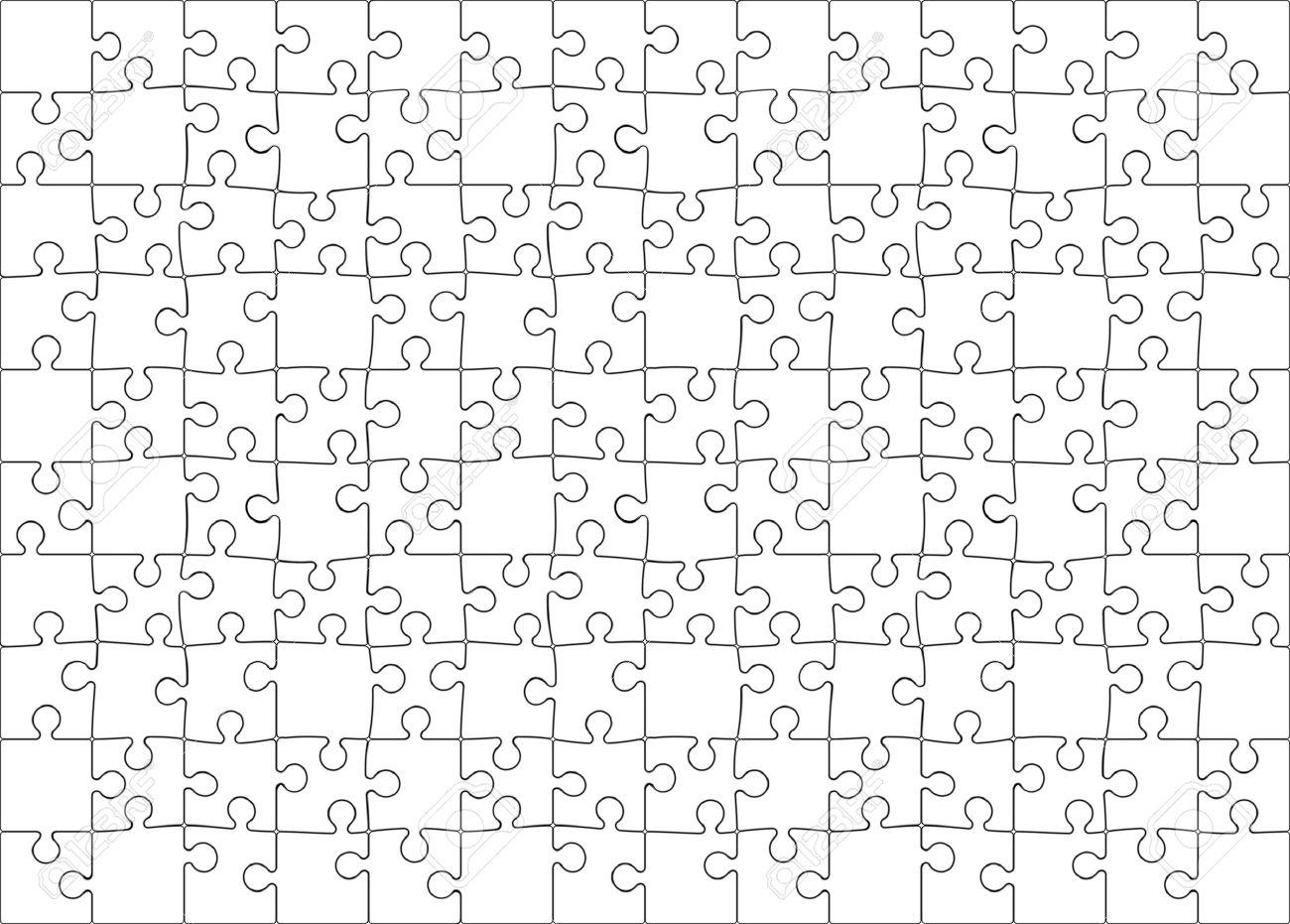 Fondo Vector Ilustración De En Blanco Jigsaw Puzzle (cada Pieza Es ...