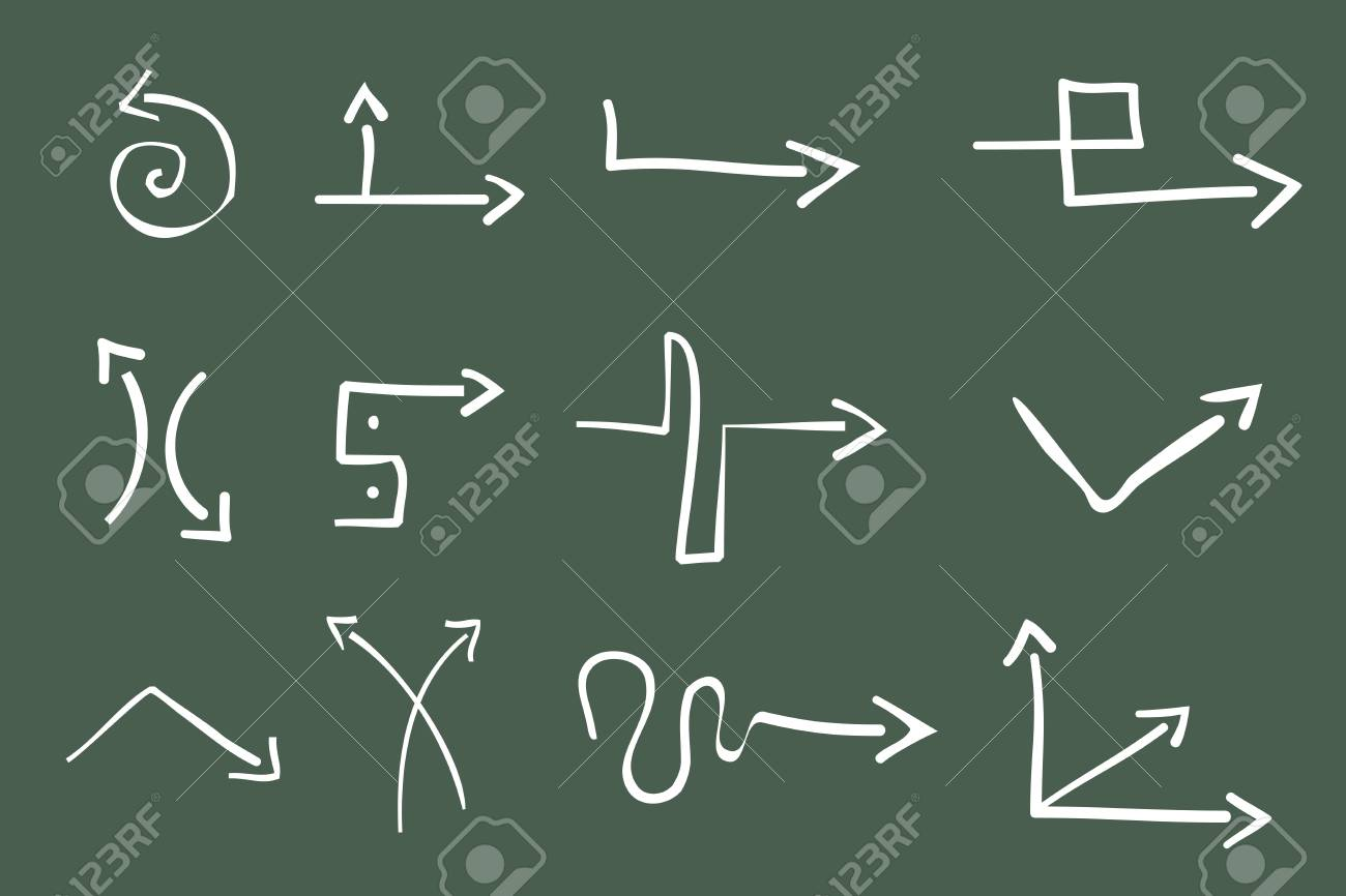 Hand Drawn Illustration of 12  Arrows Stock Vector - 7234553