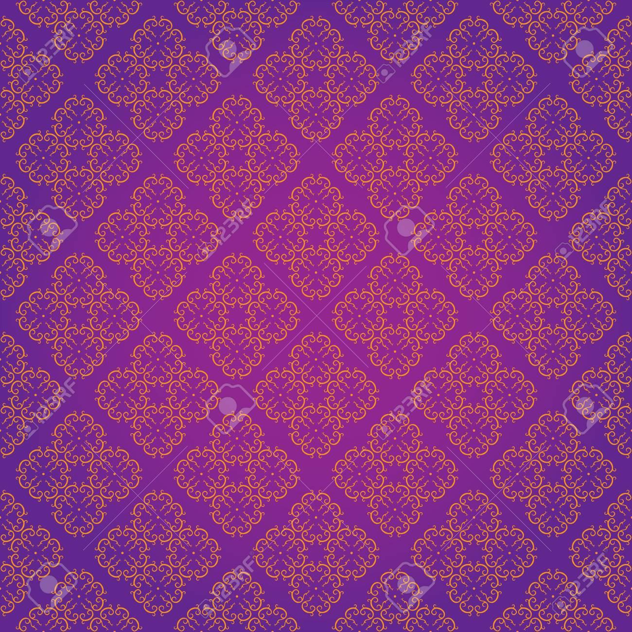 Vector Illustration of Vintage Wallpaper Seamless Pattern Original Design Stock Vector - 12798526