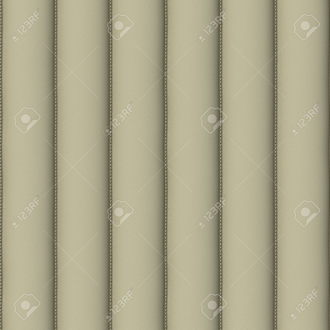 Cream Upholstery Leather Seamless Pattern - Hyper Realistic Illustration Stock Illustration - 12941156